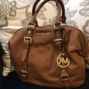 Cognac Brown Michael Kors arm bag